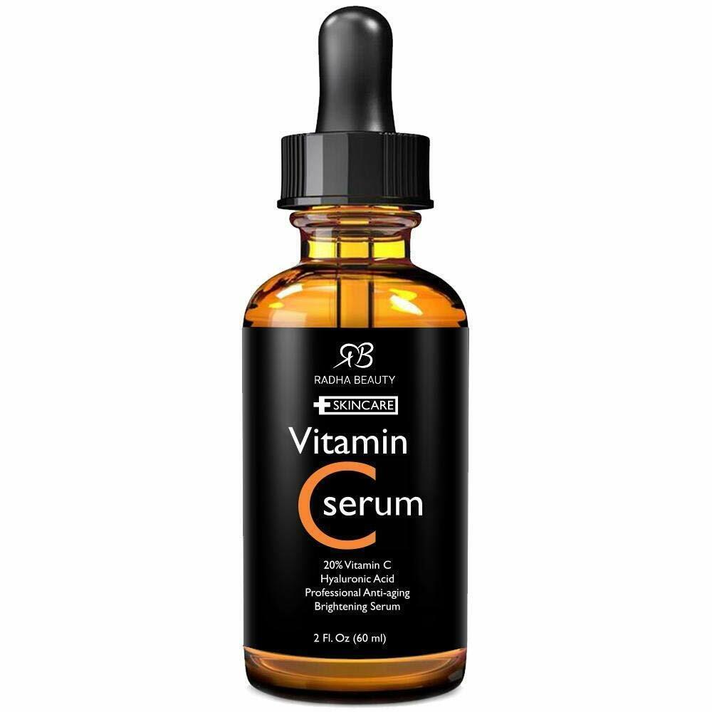 Radha Beauty Vitamin C Serum for Face, HUGE 2oz