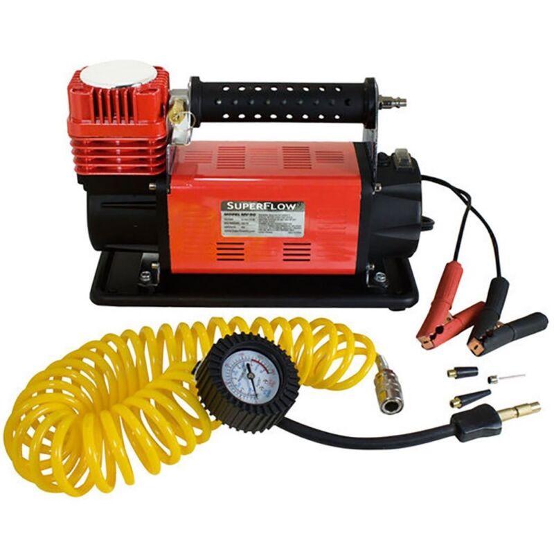 SuperFlow MV90 Portable 45 Amp 12V Battery Powered Air Compressor w/ Carry Bag