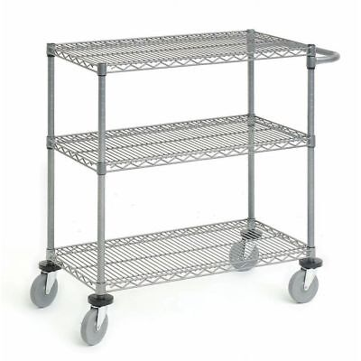 Wire Display Cart Utility Cart Flint Steel Wire Cart - 24 L X 18 W X 39 12 H