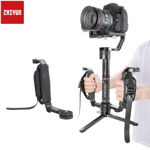 ZHIYUN Mini Dual Grip L Bracket Grip Handle Holder Mount For Crane 2 / PLUS/ M