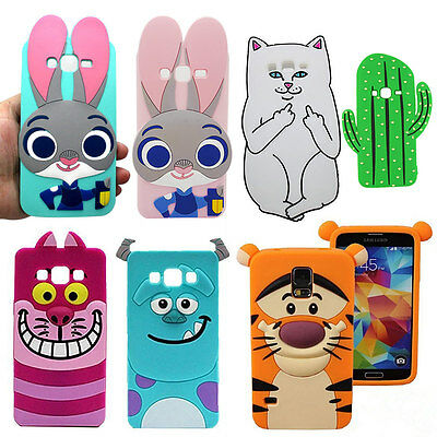 Cute Cartoon Animals Soft Silicone Gel Rubber Case For Samsung J3 J5 J7 S7 S8
