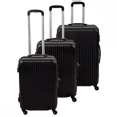 New 3 Pcs Luggage Travel Set Bag ABS Trolley Formerly portmanteau 4 Color 348