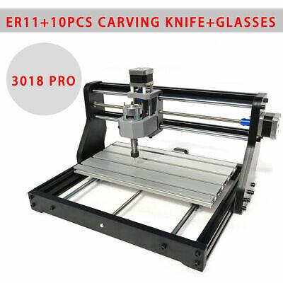 Cnc Pro Router 3axis Laser Engrave Machine Pcb Wood Diy Carve Mill Desktop Mini