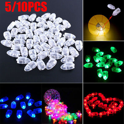 5/10Pcs Colorful LED Balloon Light Glowing Party Festival Wedding Balloons Decor