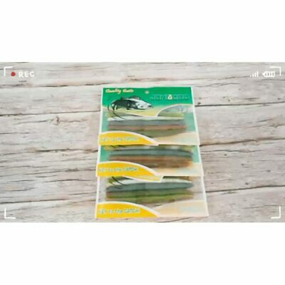JOHNCOO Soft Lures Swim Worms Fishing Stick Baits Artificial Plastic For Bass 4 - $24.90