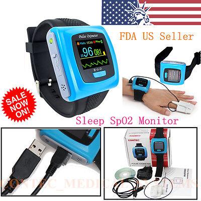 Wrist Fingertip Pulse Oximeter Spo2 Blood Oxygen Heart Rate Monitoralarmusbsw
