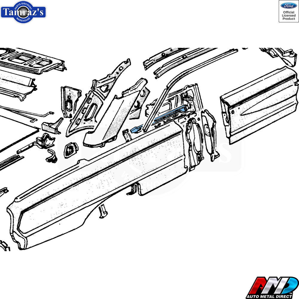 NEW from AMD 64 Ford Galaxie Upper Quarter Panel