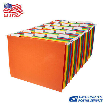 Hanging Organizer File Folders - Letter Size Assorted Colors 25-pack