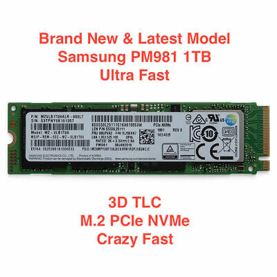 BRAND NEW SAMSUNG PM981 1TB NVMe M2 SSD MZVLB1T0HALR 3D M.2 PCIE FAST SHIPPING