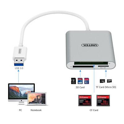 UNITEK USB 3.0 Compact Flash Multi Memory Card Reader Micro SD HC SDXC UHS-I UHS