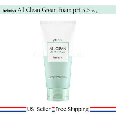 Heimish All Clean Green Foam 150g PH 5.5 + Free Random Sample [ US Seller ] ()