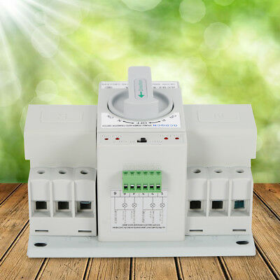 63a 3p 110v Automatic Transfer Switch Dual Power Switch Manual Self Cast