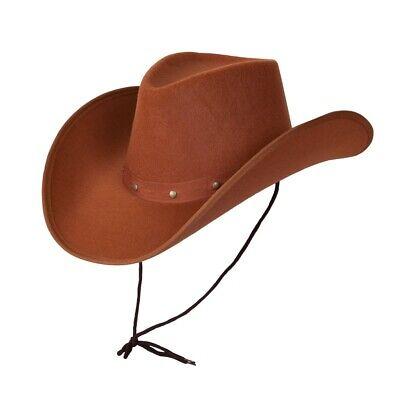 Braune Texas Cowboy Hut Herren Damen Wilder Westen Kostüm Cowboys Hut