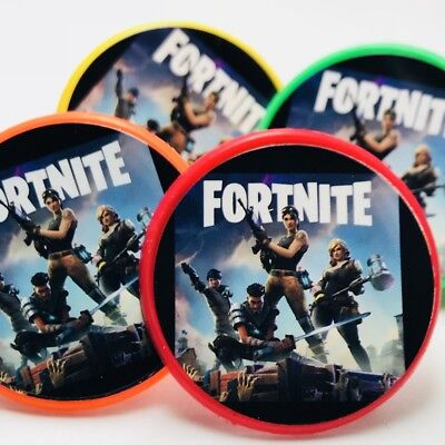Fortnite Cupcake Toppers Rings Birthday Party Favors - 20 pcs