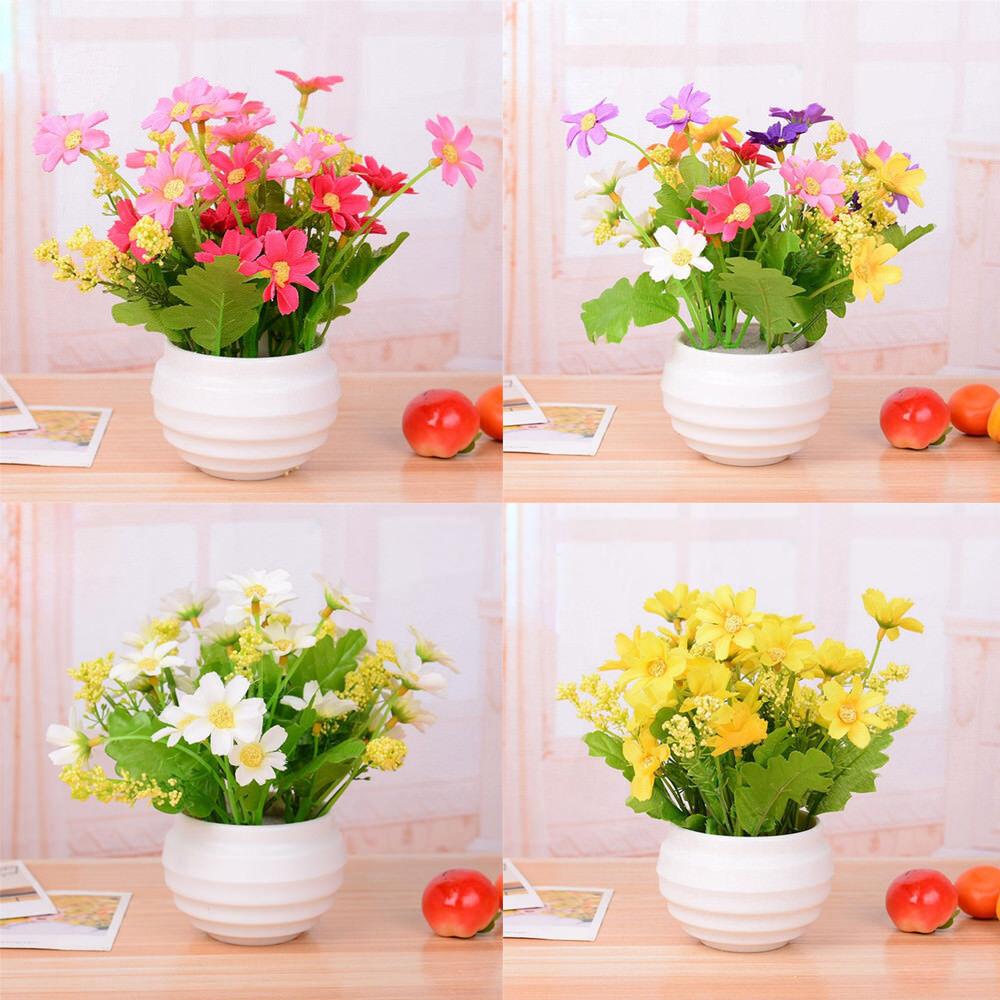 New Artificial Small Chrysanthemum Daisy Silk Room Garden Flowers
