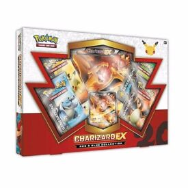 Pokemon Cards: Generations Charizard Ex Red & Blue Collection Box Booster Packs