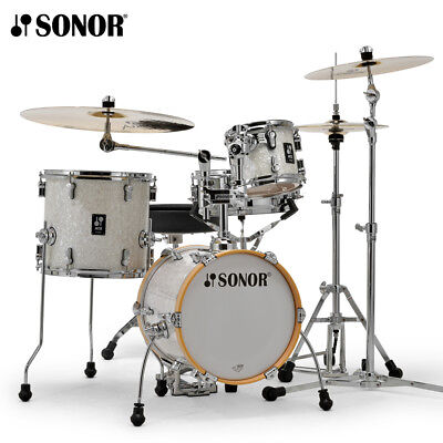 NEW Sonor AQ2 MARTINI Maple 4 Piece Drum Set Shell Pack - White Marine Pearl 4 Piece Drum Shell
