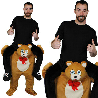 TEDDY BEAR PICK ME UP RIDE ON ANIMAL NOVELTY COSTUME MENS LADIES FANCY DRESS  ()