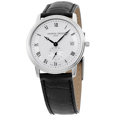 Frederique Constant Slim Line Analog Swiss Quartz Black Men's Watch FC245M4S6
