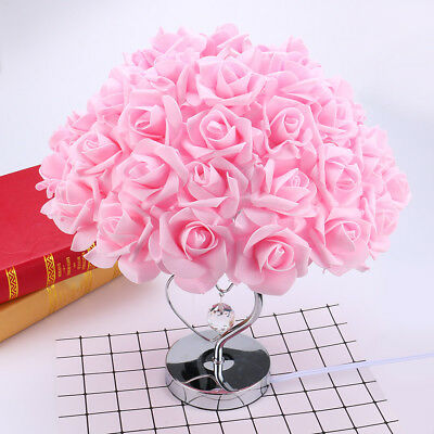 USA Rose Table Desk Lamp Flower Shade Light Home Party LED Light Decoration - Led Table Decorations