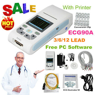 Contec Ecg90a Touch 12-lead Ecgekg Machine Electrocardiograph Sync Pc Software