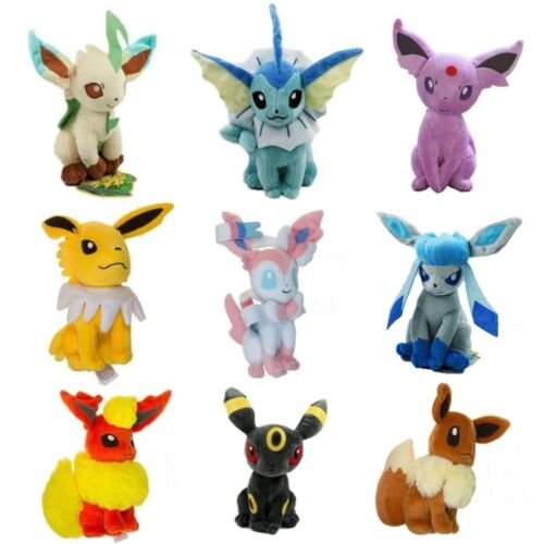 New Large Pokemon Evolution of Eevee Plush doll Toy Eeveelution Kids Gifts 1PCS