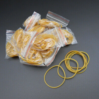 50pcs Rubber Band Drive Belt Pulley Model Motor Diy Toys 1.5mm X 40mm Yellow New