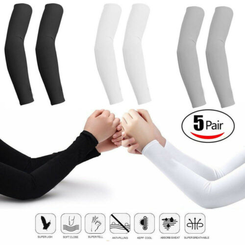 5 pairs Cooling Arm Sleeves Cover UV Sun Protection Basketba