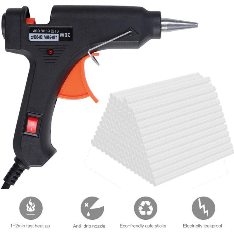 """1000PC Hot Melt Mini Glue Gun Stick White 7x100mm 0.27x4"""" DIY Art Craft Repair"""