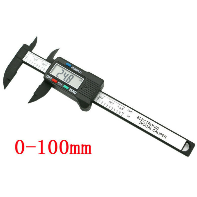 100mm/4inch LCD Digital Electronic Carbon Fiber Vernier Cali