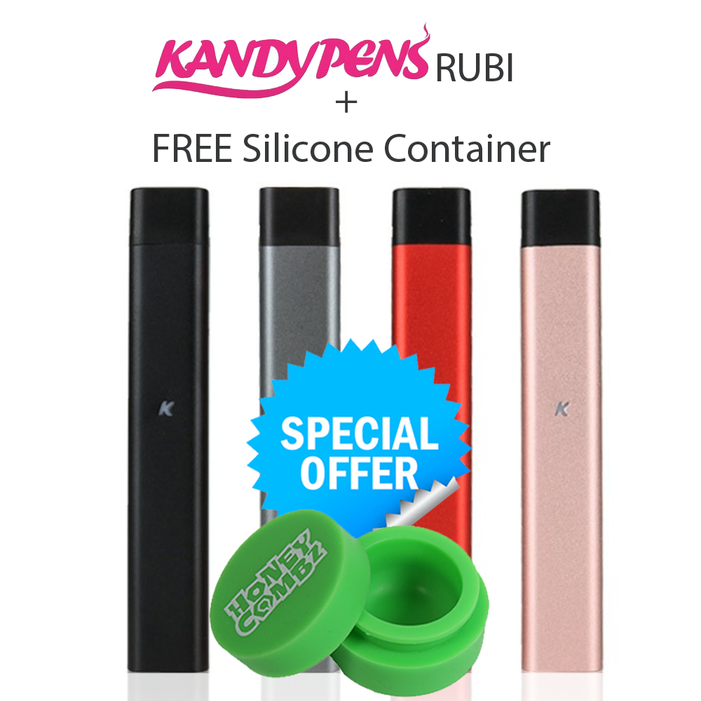 New KandyPens RUBI 2018 Warranty FREE PRIORITY SHIPPING + Silicone Container