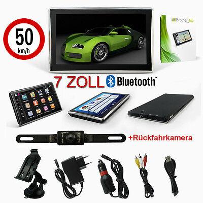 MediaTec 7 Zoll Navigationsgerät Navi EU DE mit Bluetooth und Rückfahrkamera