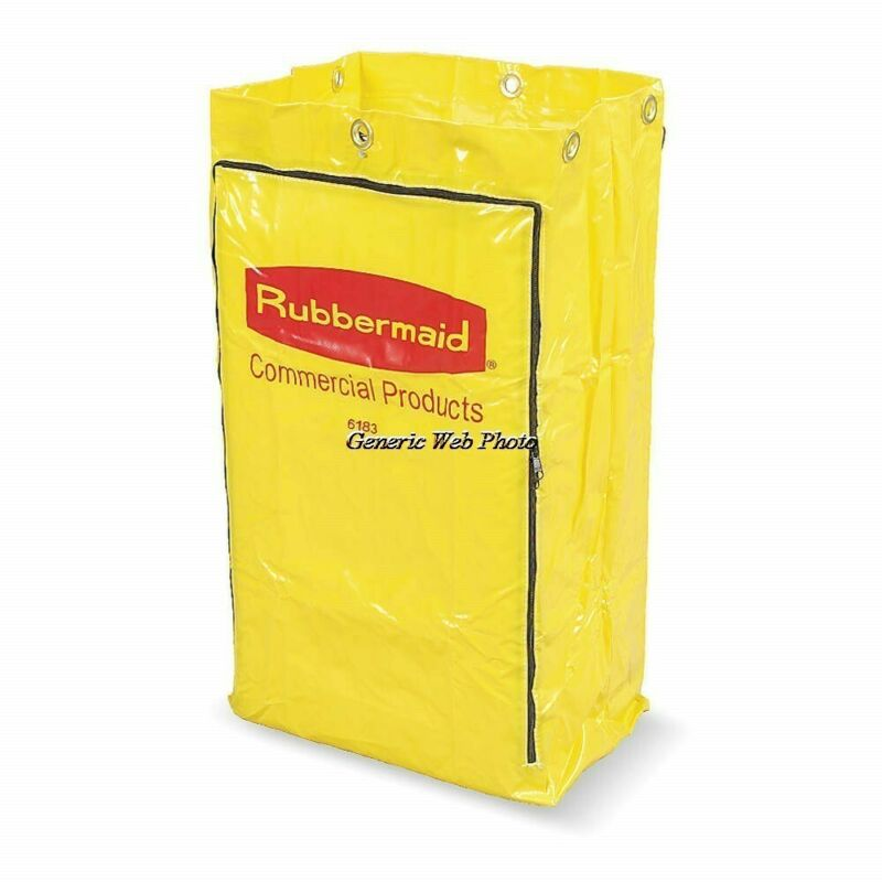 "RUBBERMAID (FG618300YEL) Replacement Bag 17-1/4 x 10-1/2 x 30-1/2"" Yellow -Qty 2"