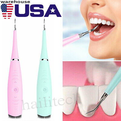 Tooth Stains Tool Dental Scaler Tartar Calculus Plaque Remover Electric Sonic Us
