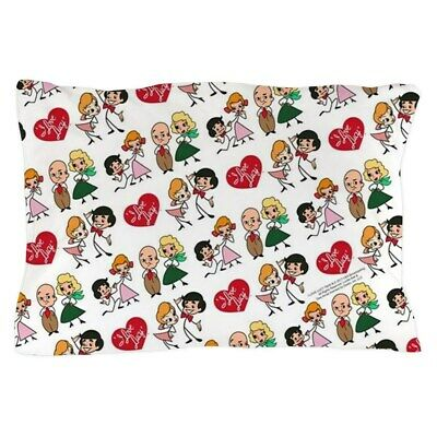 CafePress I Love Lucy Character Stick Figures Pillow Case