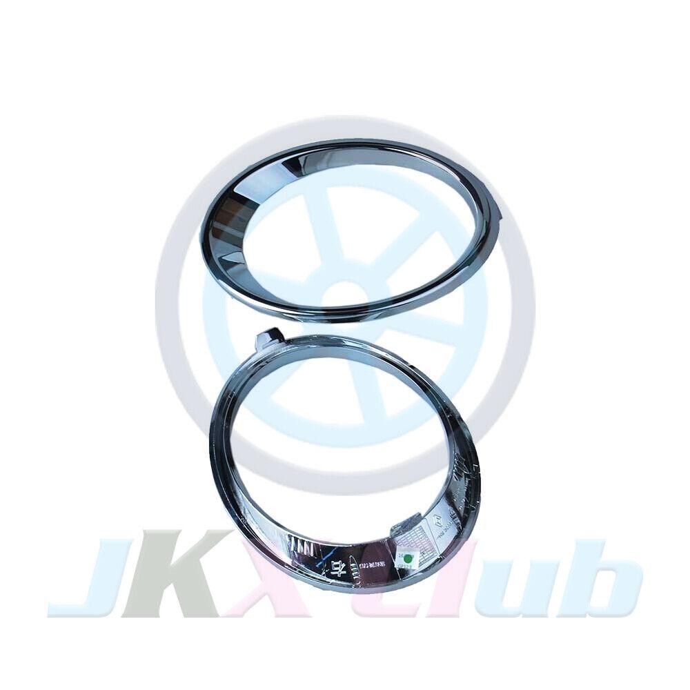 Chrome Bumper Bezel Fog Light Lamp Bracket Harness Kit For