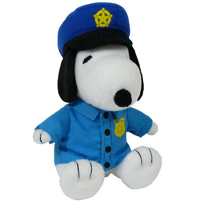 Metlife Snoopy Police Officer Plush Dog Nib Peanuts Toy New Law Enforcement