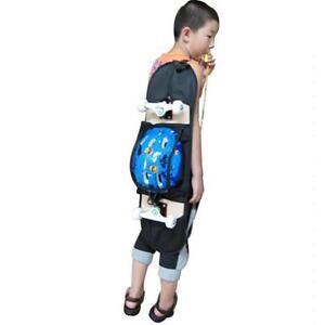 Outdoor-Skateboard-Carry-Bag-Longboard-Deck-Skate-Board-Backpack-Black