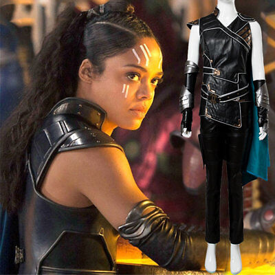 The Avengers Thor 3 Ragnarok Valkyrie Cosplay Costume Cape Vest Dress Gown Suit - Thor Womens Costume
