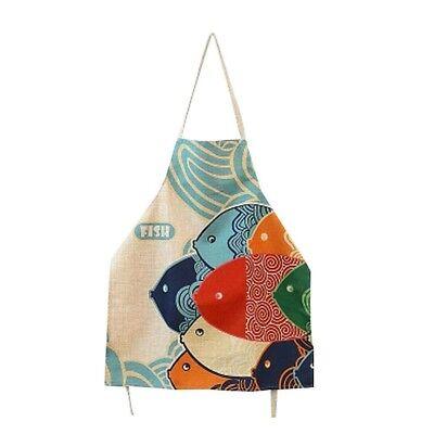- Cute Cartoon Apron Japanese Style Lovely Fish Pattern Apron For Women Men Apron