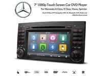 "7"" Headunit Radio Bluetooth GPS DVD Player USB SD Stereo For Mercedes A B Class Viano Vito Sprinter"
