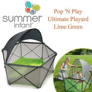 NEW Summer Infant Pop N Play Ultimate Playard, Lime Green Condtion: New, Lime Green