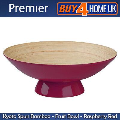 Premier Housewares Premium Kyoto Raspberry Spun Bamboo Round Fruit Bowl