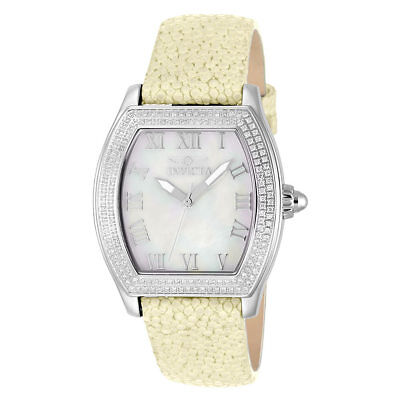 Invicta Elite Diamond Womens Quartz 37mm SS Case White Dial - Model 22687