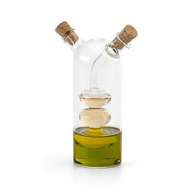 Glass Vinegar and Olive Oil Stand Cruet Set Dispenser Bottle Condiment Pourer BN