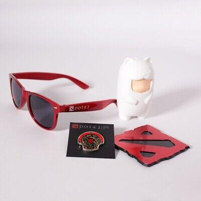 Dota 2 TI6 Attendee Aegis Pin + Sunglasses Logo International Valve Steam Dota2