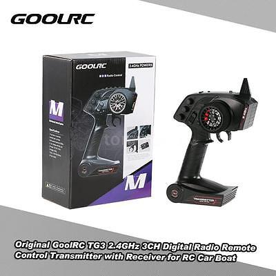 GoolRC TG3 2.4GHz 3CH Digital Radio Transmitter w/ Receiver for RC Car Boat A9E5