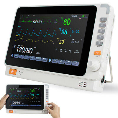 10 Fda Vital Sign Dental Medical Patient Monitor Ecg Nibp Resp Temp Spo2 Pr