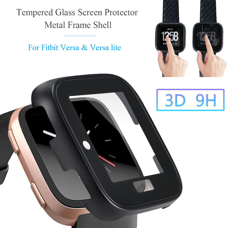 Protective Case Tempered Glass Screen Protector For Fitbit V