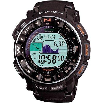 Casio Pro Trek Men's Solar Atomic Black Resin Band 50.5mm Watch PRW2500R-1